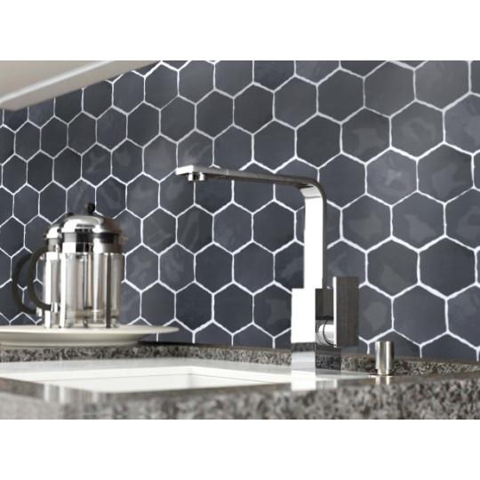 Carrelage mural terre cuite émaillée Hexagone 12.5x11cm (21 couleurs)