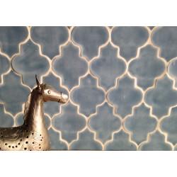 Carrelage mural Arabesque terre cuite émaillée (6 couleurs)