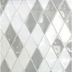 Carrelage mural terre cuite émaillée Diamond losange 14,5x8,5cm  (21 couleurs)