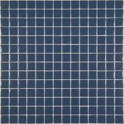 Mosaïque Unicolor 2,5x2,5cm bleu foncé 319 mat ou brillant ou antidérapant sur trame nylon 33,3x33,3cm