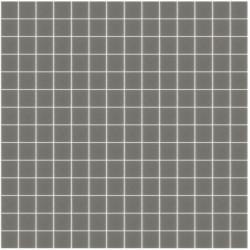 Mosaïque Unicolor 2,5x2,5cm gris chaud 106 mat ou brillant ou antidérapant sur trame nylon 33,3x33,3cm