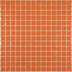 Mosaïque Unicolor 2,5x2,5cm noir 304 mat ou brillant ou antidérapant sur trame nylon 33,3x33,3cm