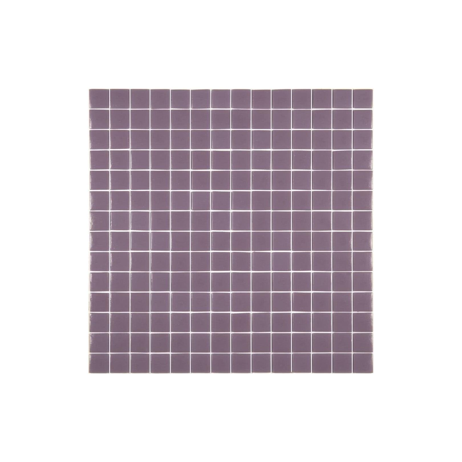 Mosaïque Unicolor 2,5x2,5cm uabergine 251 mat ou brillant ou antidérapant sur trame nylon 33,3x33,3cm