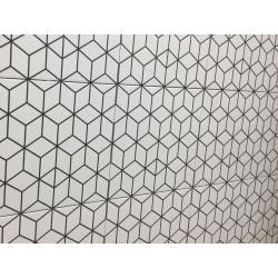 Carrelage grès cérame effet carreau ciment Alhambra Negro 25x25cm