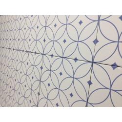 Carrelage grès cérame effet carreau ciment Alhambra Azul 25x25cm