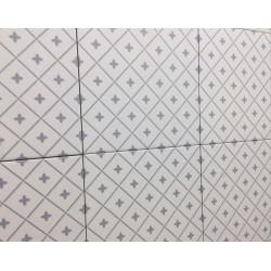 Carrelage grès cérame effet carreau ciment Alhambra Gris 25x25cm