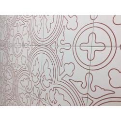 Carrelage grès cérame effet carreau ciment Alhambra Rojo 25x25cm