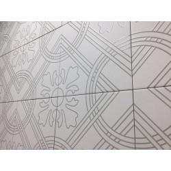 Carrelage grès cérame effet carreau ciment Alhambra Arena 25x25cm