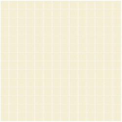 Mosaïque Unicolor 2,5x2,5cm blanc cassé 330 mat ou brillant ou antidérapant sur trame nylon 33,3x33,3cm