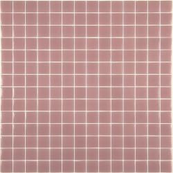 Mosaïque Unicolor 2,5x2,5cm rose 166 mat ou brillant ou antidérapant sur trame nylon 33,3x33,3cm