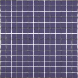 Mosaïque Unicolor 2,5x2,5cm violet mauve 308 mat ou brillant ou antidérapant sur trame nylon 33,3x33,3cm