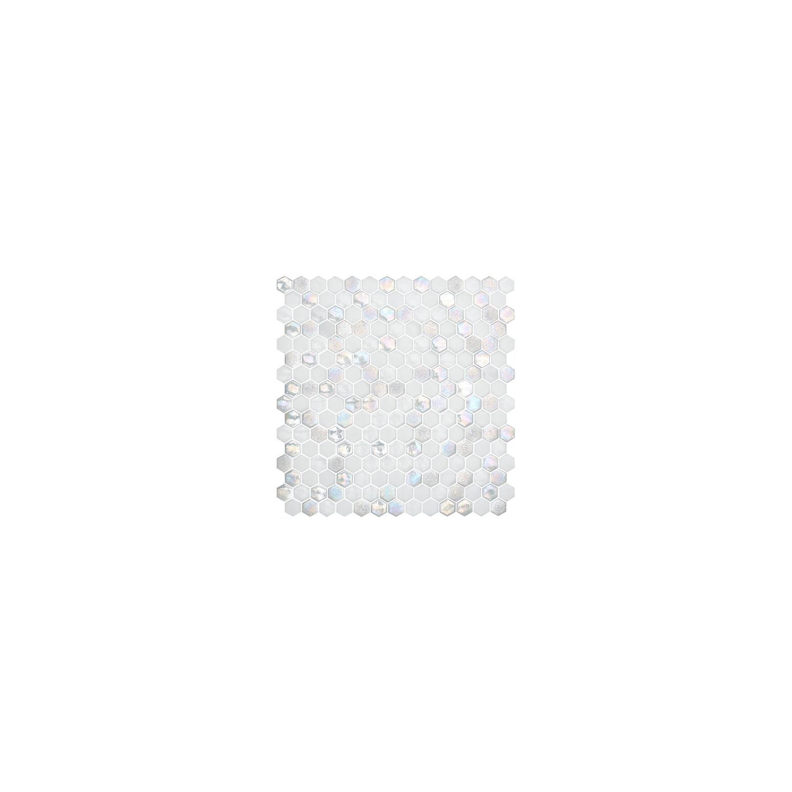 Mosaïque Textures hexagone 2,6x2,2cm Star sur trame nylon 33,2x33,2cm