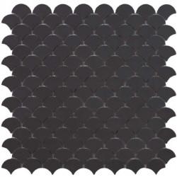 Mosaïque Soul écaille 3,6x2,9cm Dark Grey (anthracite) mat sur trame nylon 32,4x31,7cm