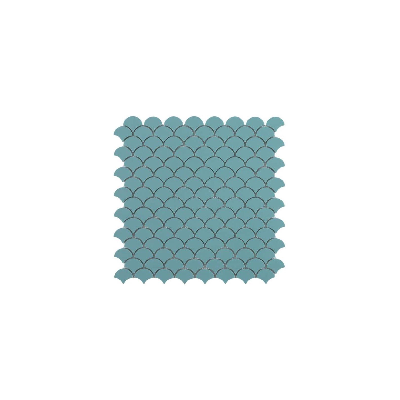 Mosaïque Soul écaille 3,6x2,9cm Turquoise mat sur trame nylon 32 ...
