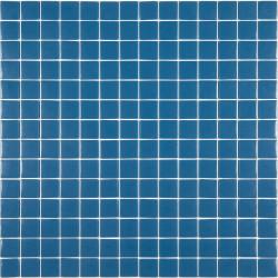 Mosaïque Unicolor 2,3x2,3cm bleu 240 mat ou brillant ou antidérapant sur trame nylon 33,3x33,3cm