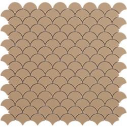 Mosaïque Soul écaille 3,6x2,9cm Matt Beige mat sur trame nylon 32,4x31,7cm