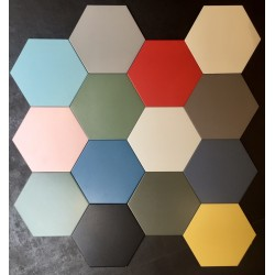 Carrelage grès cérame Hex 25 Basic, hexagone 25x22cm (14 couleurs)