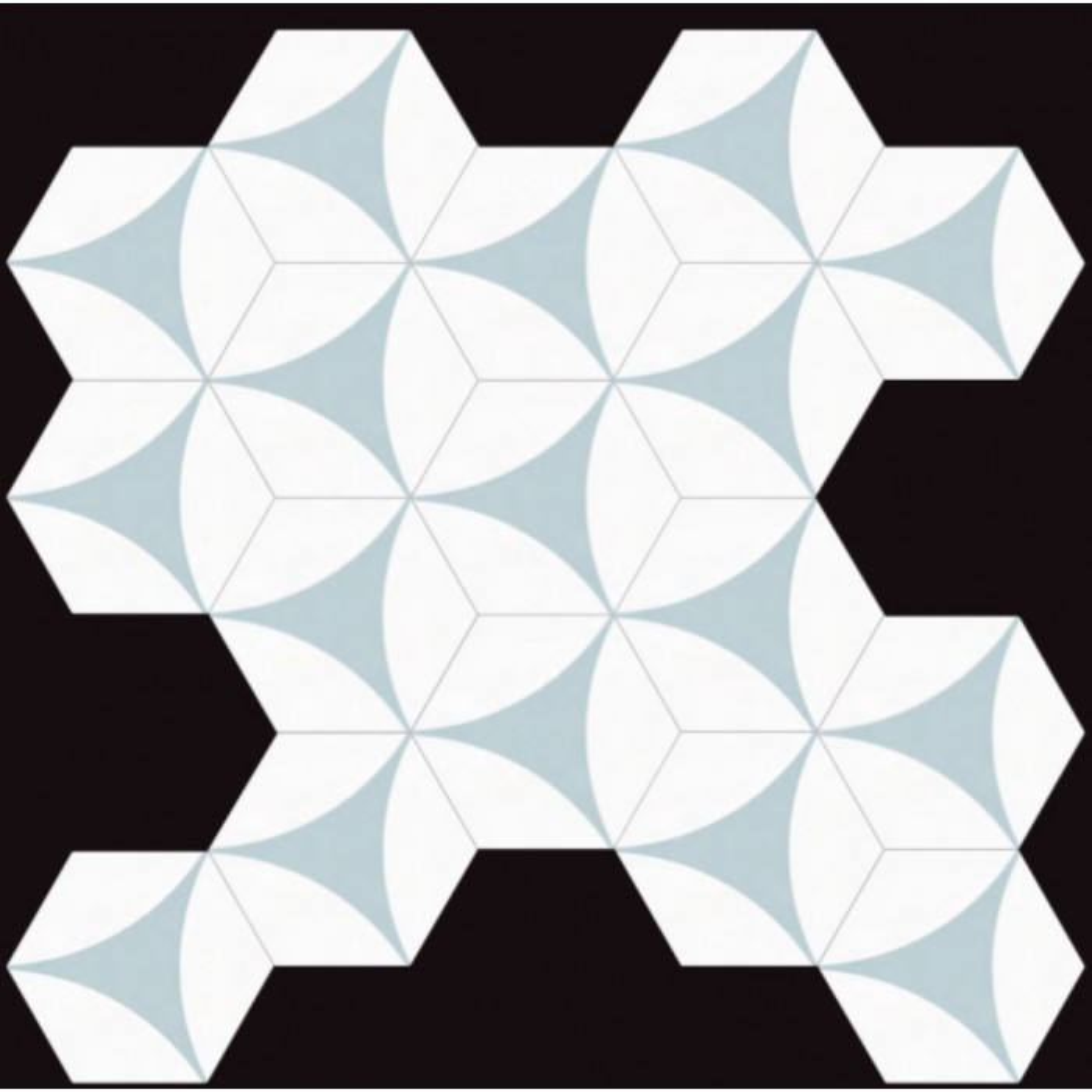 Carrelage grès cérame Hex 25 Porto Venere, hexagone 25x22cm (14 couleurs)