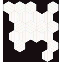 Carrelage grès cérame Hex 25 Porto Savona, hexagone 25x22cm (14 couleurs)