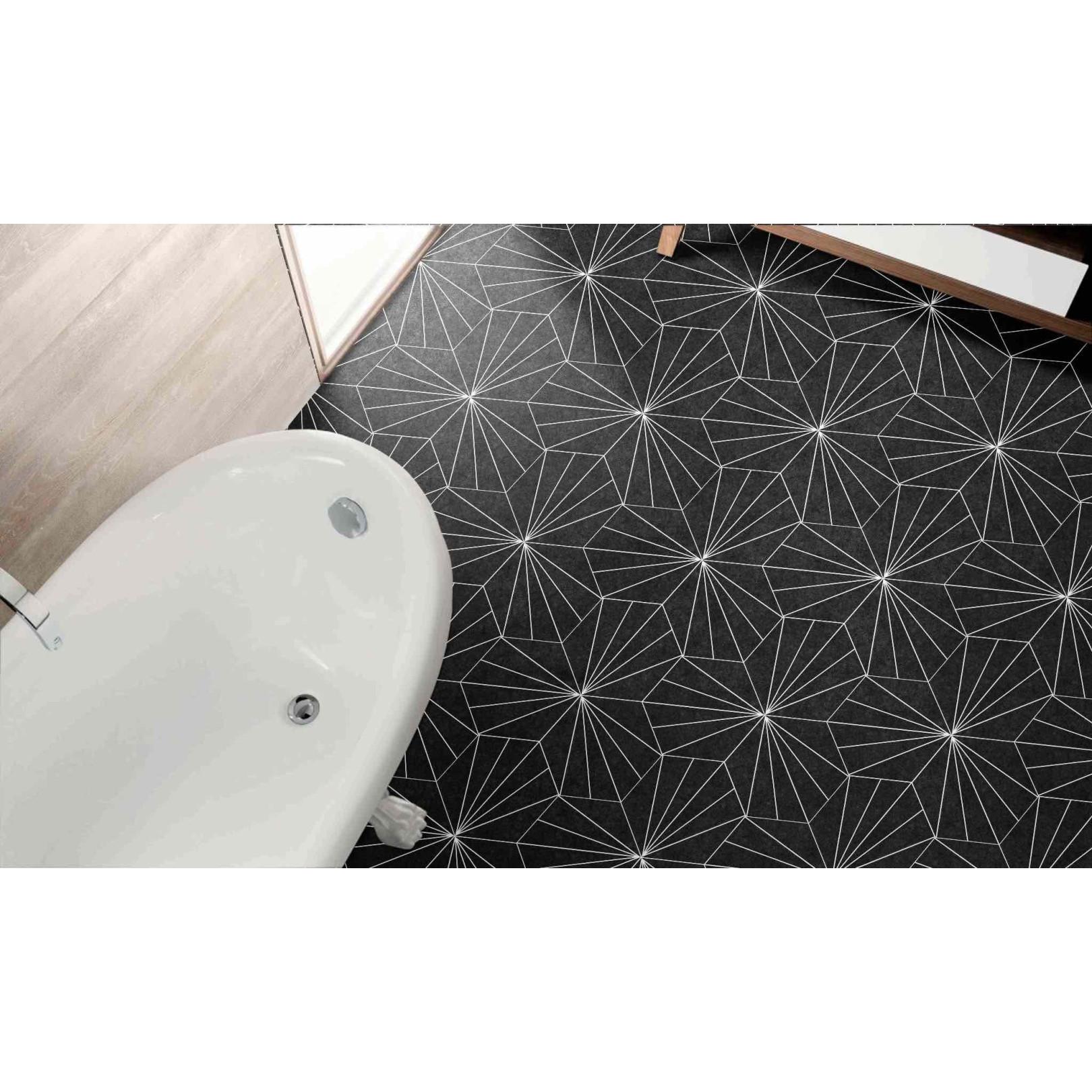 Carrelage grès cérame Hex 25 Aster, hexagone 25x22cm (2 couleurs)