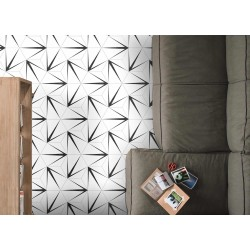 Carrelage grès cérame Hex 25 Trident, hexagone 25x22cm (2 couleurs)