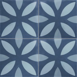 Carreau de ciment coloré motif bleu clair, bleu pastel et bleu NOA 30.40.39