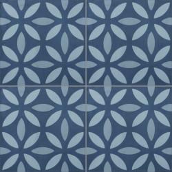 Carreau de ciment coloré motif bleu clair, bleu pastel et bleu NOA B 30.40.39