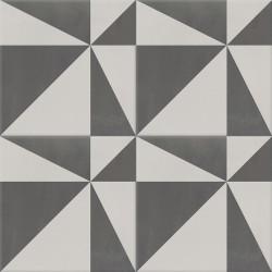 Carreau de ciment coloré motif gris clair et gris foncé ASTER 32.07