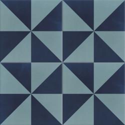 Carreau de ciment coloré motif bleu clair et bleu foncé CIEL 39.30