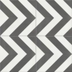 Carreau de ciment coloré motif gris et blanc EPI 32.10