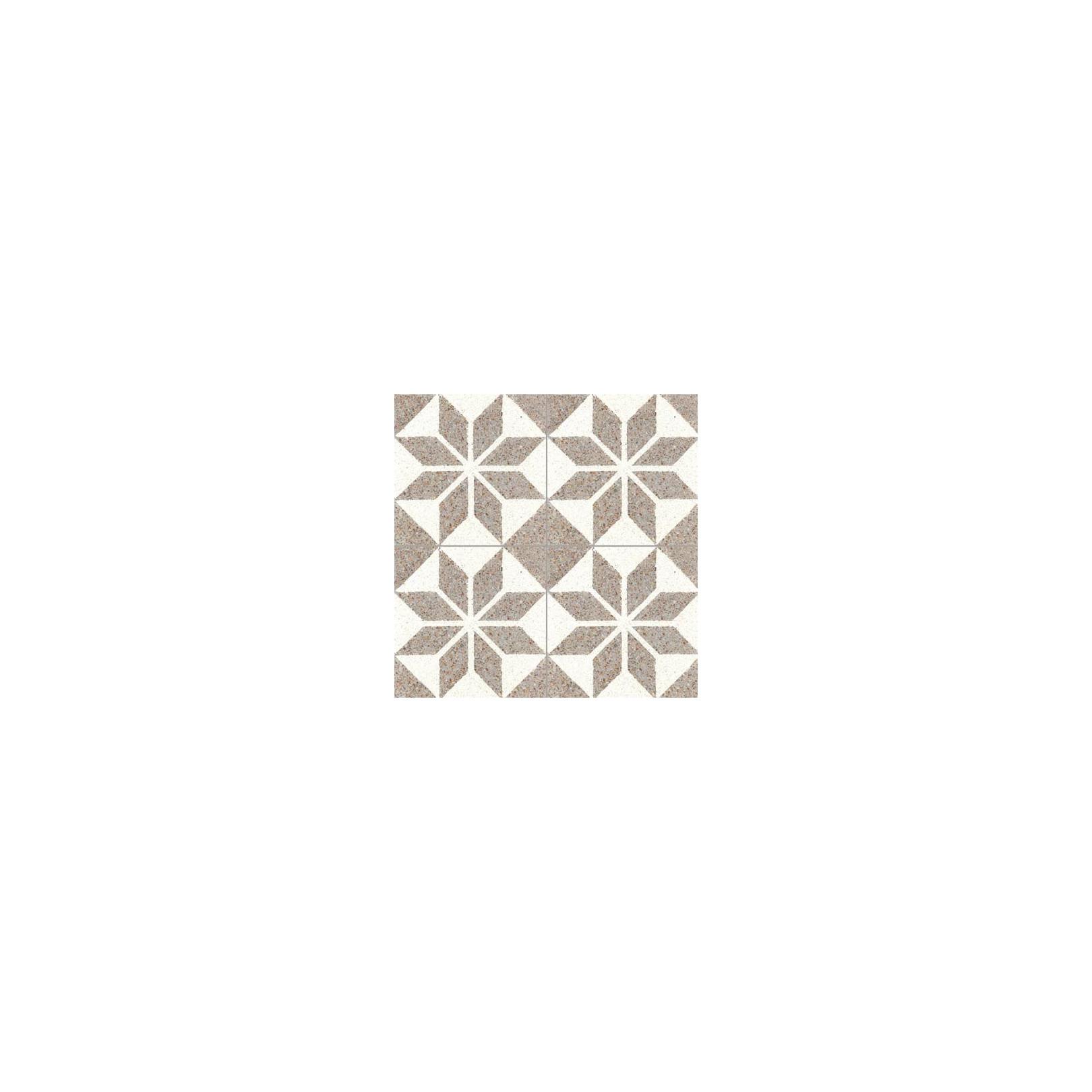 Carreau de terrazzo motif blanc et beige SOLEIL 10.332