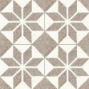 Carreau de terrazzo motif  blanc et marron SOLEIL 10.332