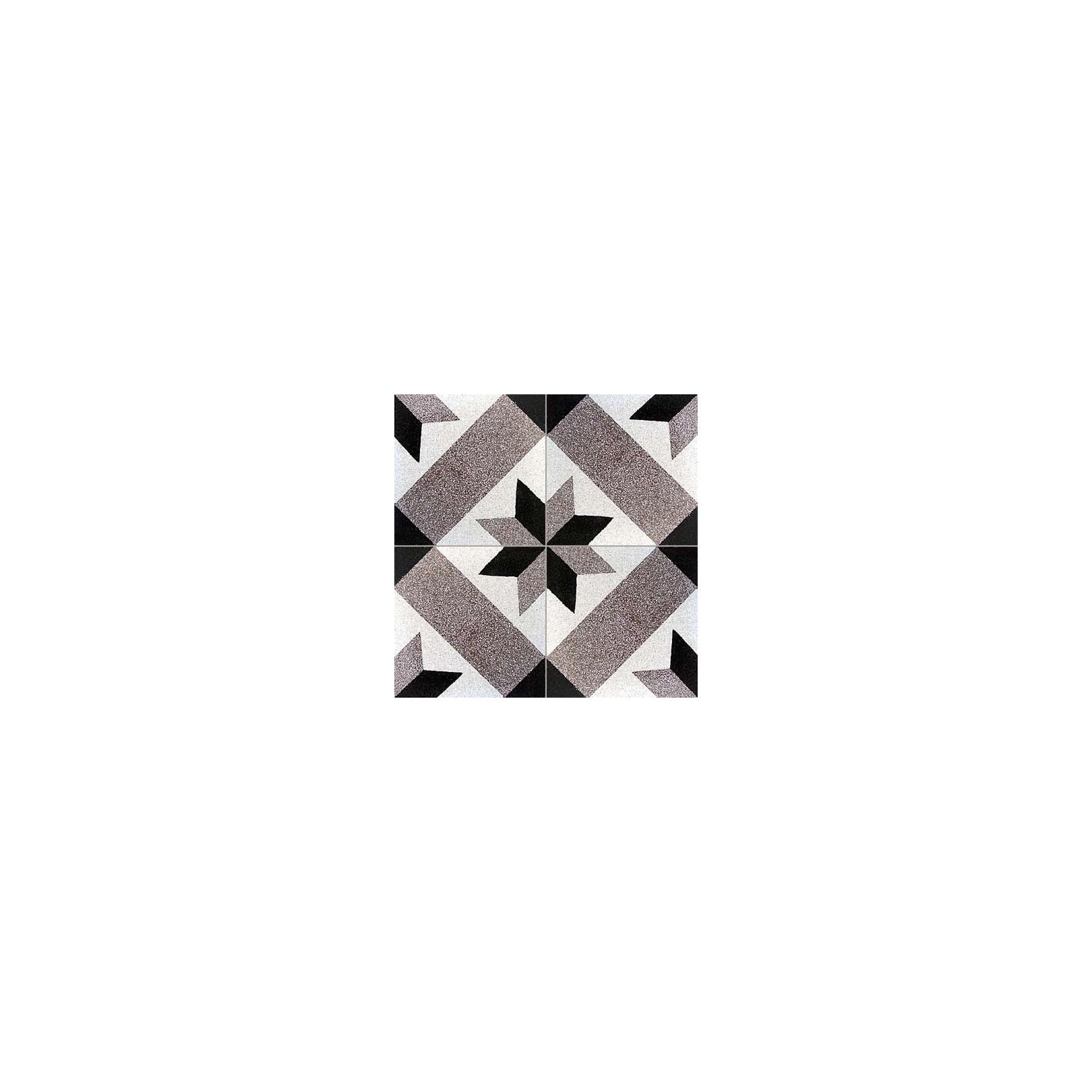 Carreau de terrazzo motif marron, noir et grige ETOILE 28.07.01