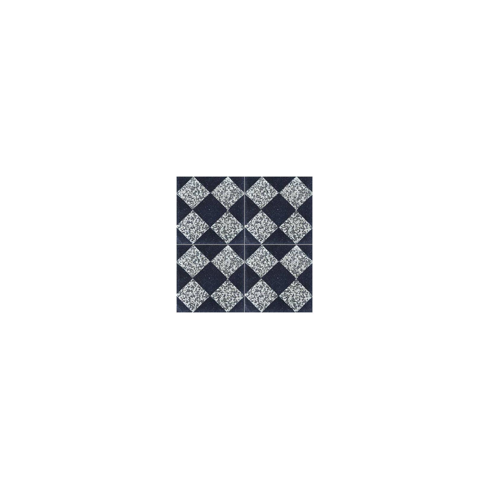Carreau de terrazzo damier noir et blanc TNB05 01.333