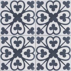 Carreau de ciment coloré motif gris clair et bleu BILBO 07.30