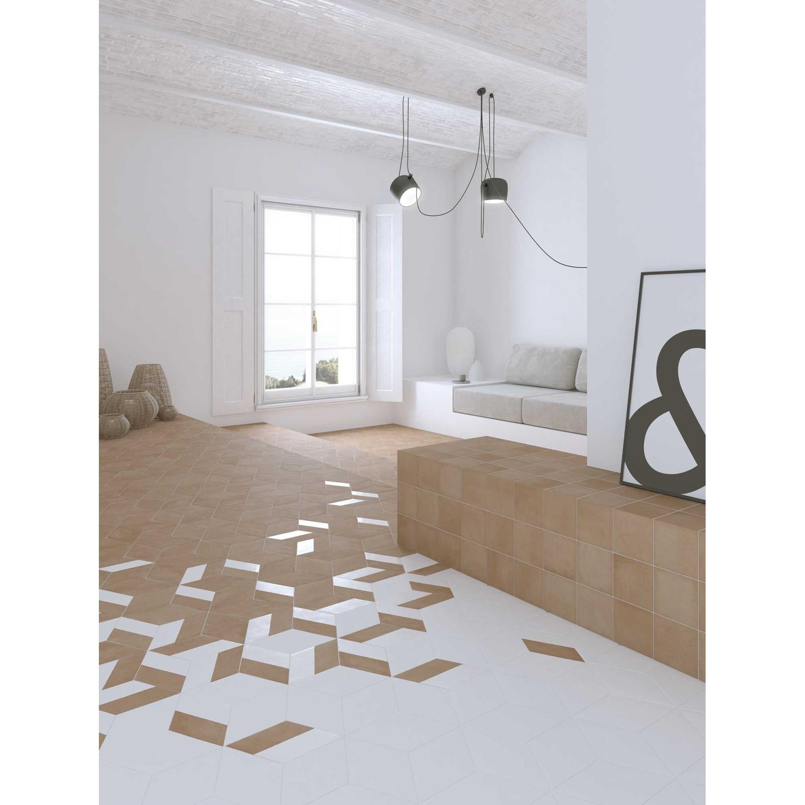 Carrelage grès cérame effet graphique Mud Diamond losange 24x14cm (7 couleurs + 2 décors)