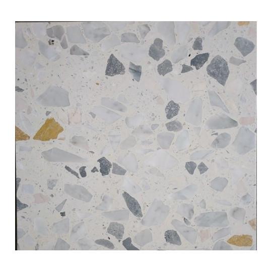 Carreau Terrazzo fond crème inclusions multicolores Bel1020