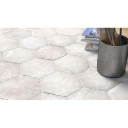 Carrelage grès cérame effet rustique Cottage hexagone 16x14cm (5 couleurs)