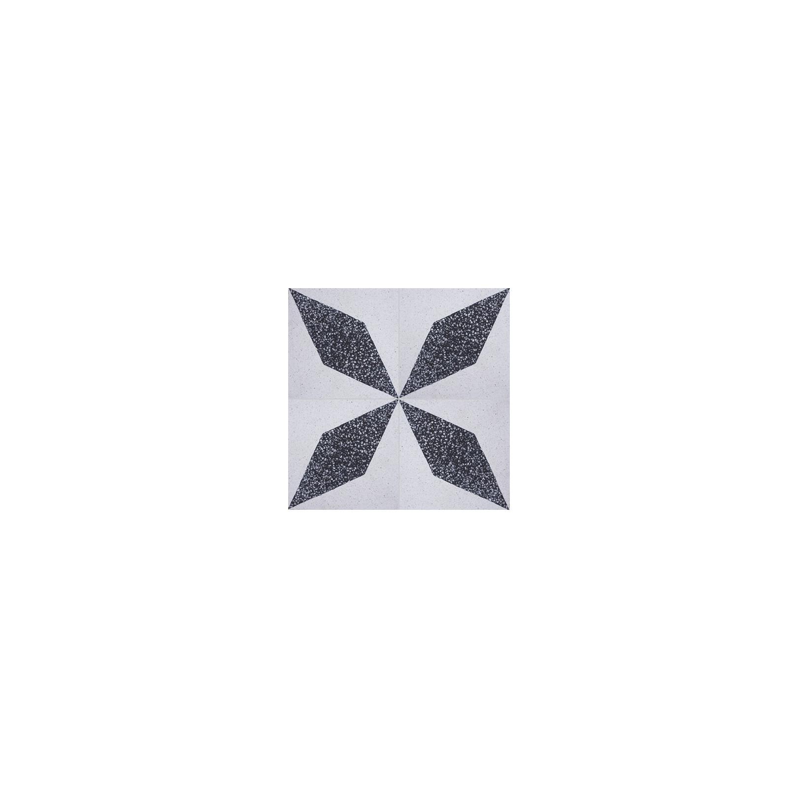 Carreau de terrazzo motif noir et blanc Lhassa TU 10.301B