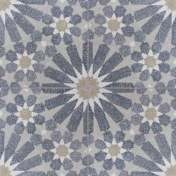 Carreau de terrazzo motif 4 carreaux gris Tuileries TU07.33.37.10
