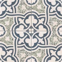 Carreau de terrazzo motif 4 carreaux gris Vivienne 07.30.333