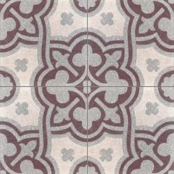 Carreau de terrazzo motif 4 carreaux gris Vivienne 07.27.23