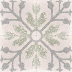 Carreau de terrazzo motif 4 carreaux crème Nina A TU 07.27.29