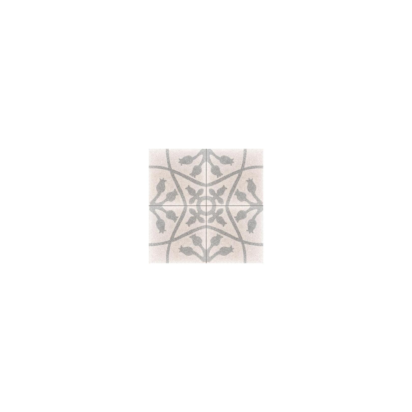 Carreau de terrazzo motif 4 carreaux crème Nina B TU 07.27