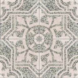 Carreau de terrazzo motif 4 carreaux gris Arcachon TU 333.07