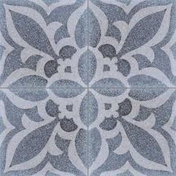 Carreau de terrazzo motif 4 carreaux gris Crédence 27.07