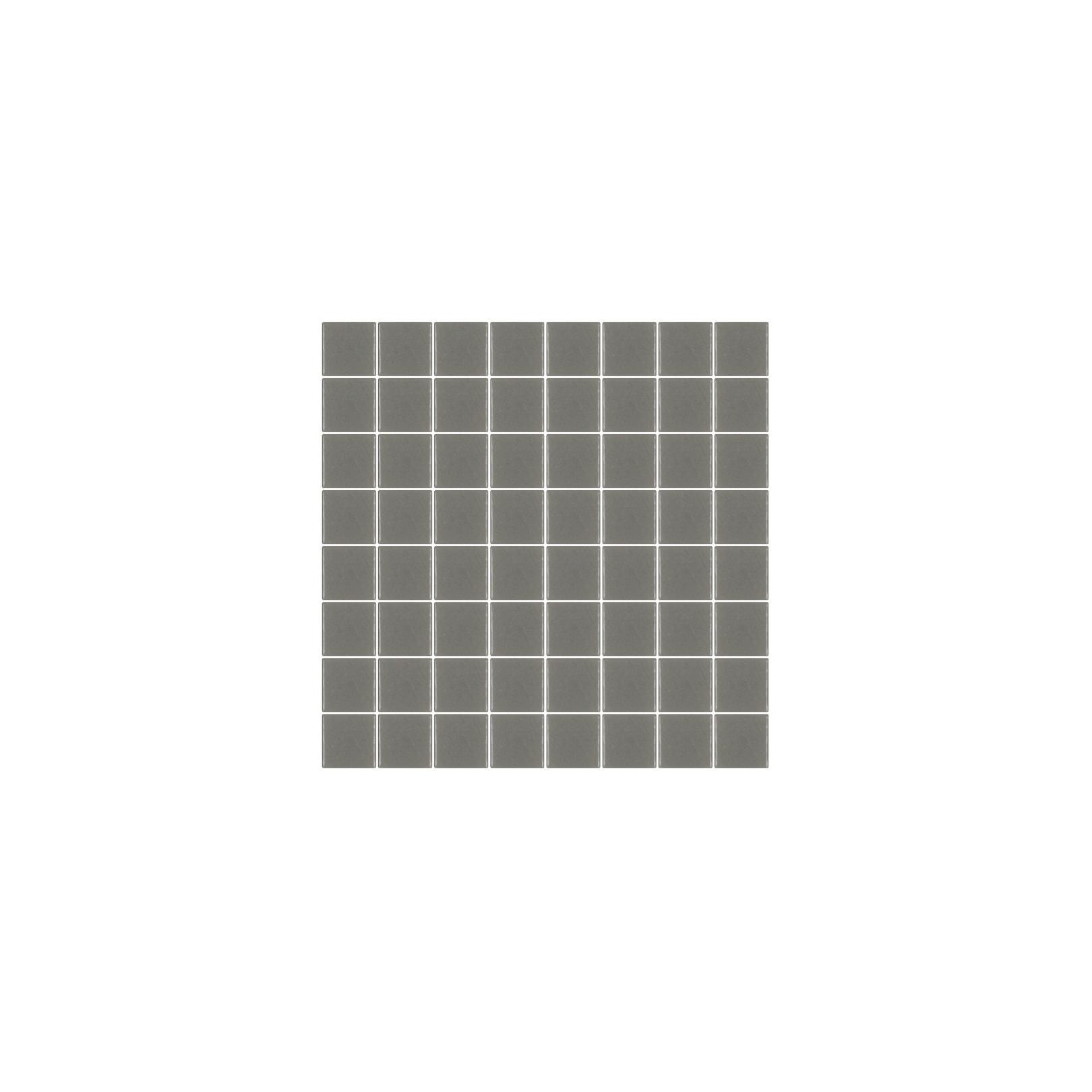 Mosaïque Unicolor hexagone 3,8x3,8cm gris chaud 106 mat ou brillant ou antidérapant sur trame nylon 32x32cm