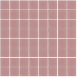 Mosaïque Unicolor carré 3,8x3,8cm rose 166mat ou brillant ou antidérapant sur trame nylon 32x32cm