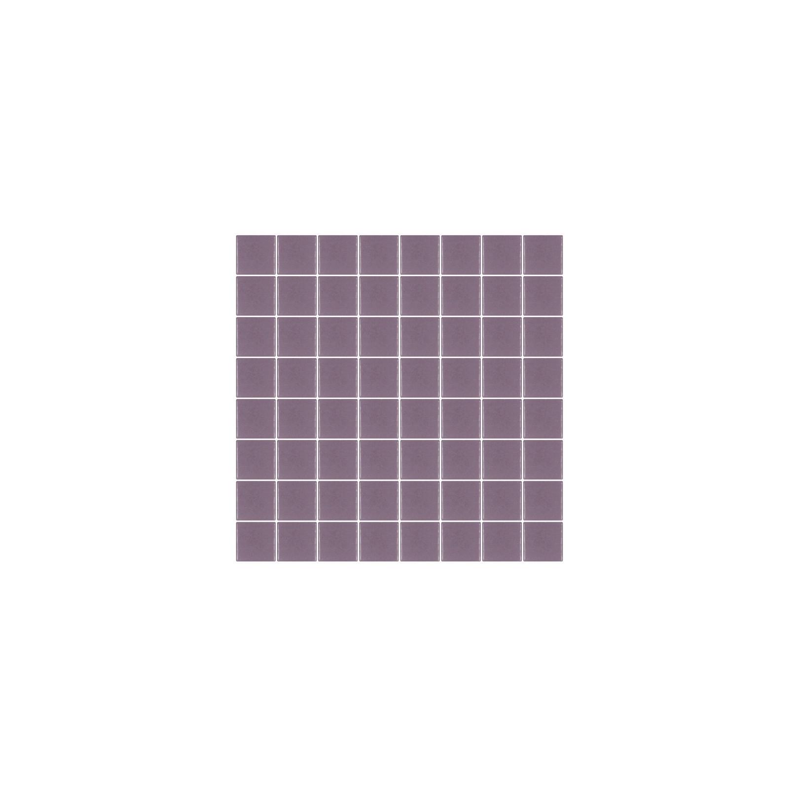 Mosaïque Unicolor carré 3,8x3,8cm 251 aubergine mat ou brillant ou antidérapant sur trame nylon 32x32cm