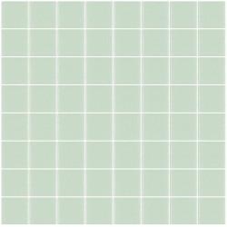 Mosaïque Unicolor carré 3,8x3,8cm 311 vert pastel mat ou brillant ou antidérapant sur trame nylon 32x32cm